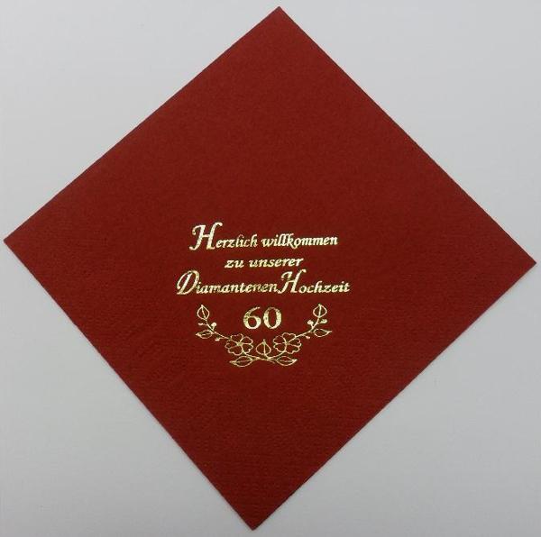 zu unserer Diamantenen Hochzeit - Bordeaux