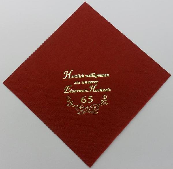 zu unserer Eisernen Hochzeit - Bordeaux