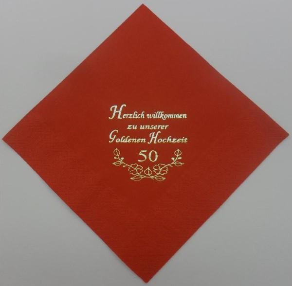 zu unserer Goldenen Hochzeit - Rot