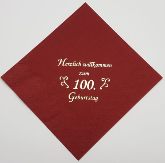 zum 100. Geburtstag - Bordeaux