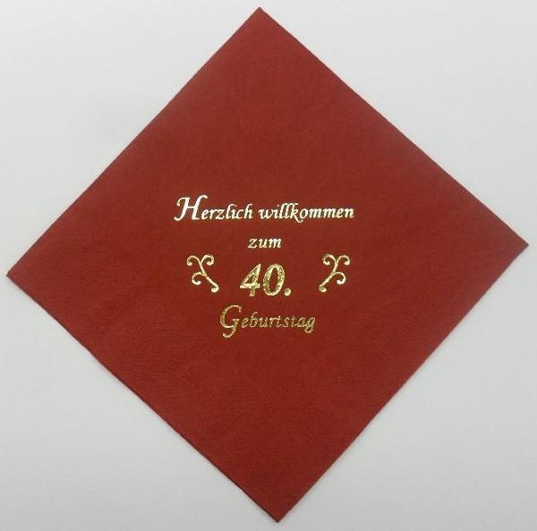 zum 40. Geburtstag - Bordeaux