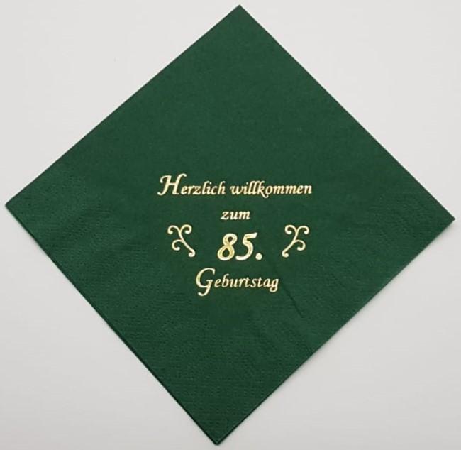zum 85. Geburtstag - Jägergrün